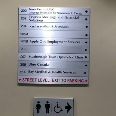 products sign signage interior acrylic signs compliant ada main image